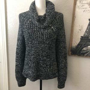 Kendall & Kylie Knit Cowl Neck Sweater -Small